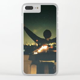 Double Exposure Freedom! Clear iPhone Case