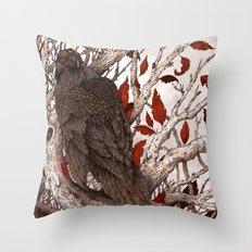 A Raven In Winter Throw Pillow