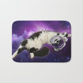Space Cat in Space Bath Mat