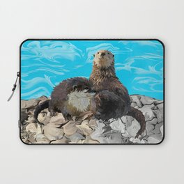 Where the River Meets the Sea Otters Laptop Sleeve