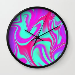 Mad Hatter Color Melt Tyedye Wall Clock