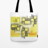 labyrinth Tote Bags featuring Labyrinth by Sally Rud