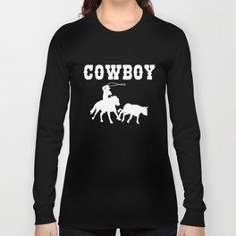 Cowboy Gift Maverick And Horse Lover Long Sleeve T-shirt