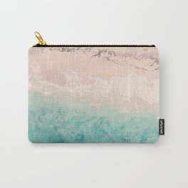 Aerial sea photography, exotic beach, fine art, wanderlust, coral reef, tropical landscape, summer Carry-All Pouch