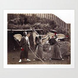 Cupids in Japan, ca 1880 Art Print