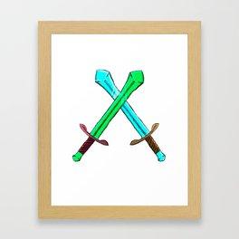 Cross Swords Framed Art Print