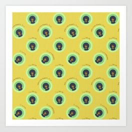 Afro Maze Affirmations Small Art Print