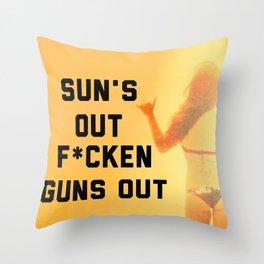 Sun's Out Throw Pillow