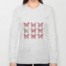 Golden rosy mauve butterflies Long Sleeve T-shirt