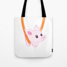 Happy piggy in a sling Tote Bag