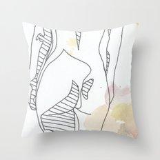 watercolor three Throw Pillow