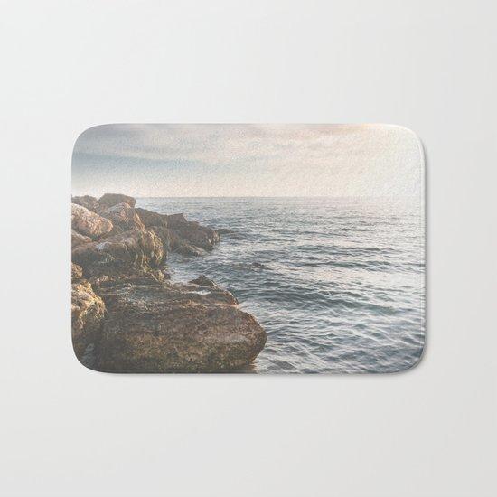 Ocean (Rocks Within the Misty Blue) Bath Mat