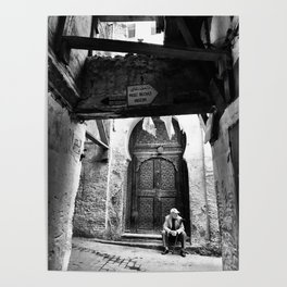 Lonely narrow streets of Fez, Morocco October 2017 Poster