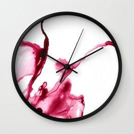 INK SPLASH WALL ART | RED ALCOHOL INK Wall Clock