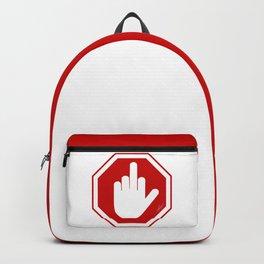 DAMAGED STOP SIGN Backpack