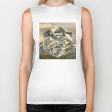 Geometric mountains 1 Biker Tank