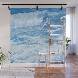 Blue Hawaiian Tropical Surf Wall Mural