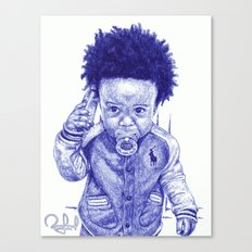 Afro Kid Canvas Print