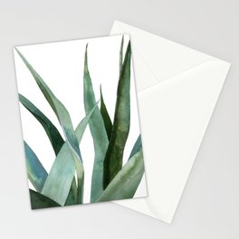 Agave plants Stationery Cards