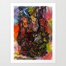 Watercolor Illusion  Art Print