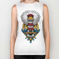 lighthouse Biker Tanks featuring Lighthouse by hvelge
