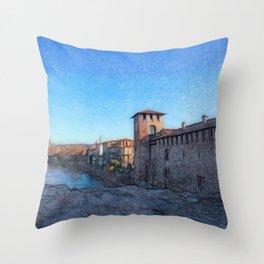 Medieval Castle Throw Pillow