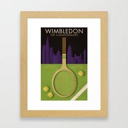 Wimbledon tennis poster Framed Art Print