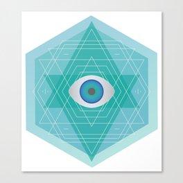 Sacred Geo Eye Canvas Print
