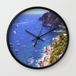 Mediterranean Of Boats Wall Clock