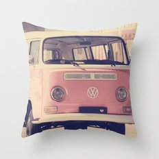 VW camper van Throw Pillow
