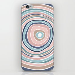 Pastel Tree Ring / Abstract Shapes iPhone Skin