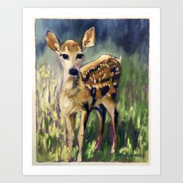 Here I am Deer Art Print