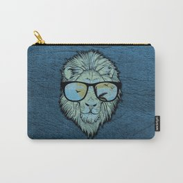 Stylish Lion Design with Moroccan Leather background Carry-All Pouch