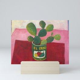 El Pato Cactus Mini Art Print