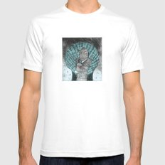 Smells like fish White SMALL Mens Fitted Tee