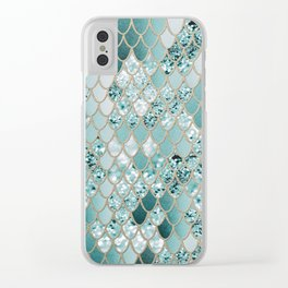 Mermaid Glitter Scales #3 #shiny #decor #art #society6 Clear iPhone Case