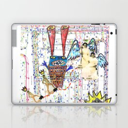 Crazy city map (collage) Laptop & iPad Skin
