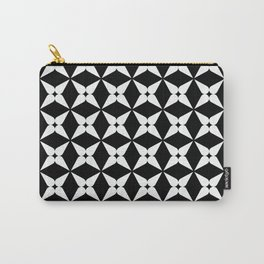 Geometric Pattern 247 (white crosses) Carry-All Pouch