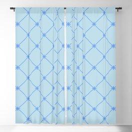 Blu Diamond Stitch Pattern Blackout Curtain