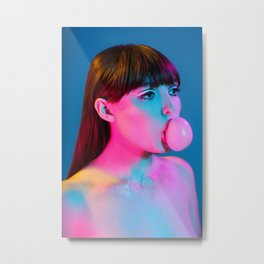Bubblegum Yum Pop Metal Print