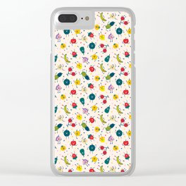Happy fruits pattern Clear iPhone Case