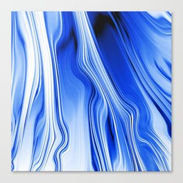 Streaming Blues Canvas Print