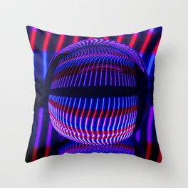 Red and Blue in the glass ball Throw Pillow