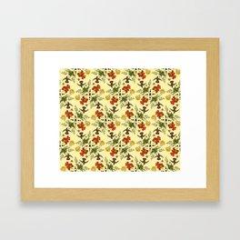 Hummingbirds in Summer. botanical nature pattern. Framed Art Print