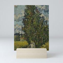 Cypresses and Two Women Mini Art Print