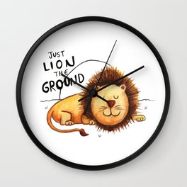 Just Lion the ground Wall Clock