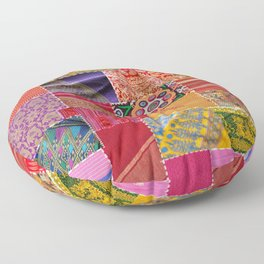 Boho Art | Sari Patchwork Quilt Floor Pillow