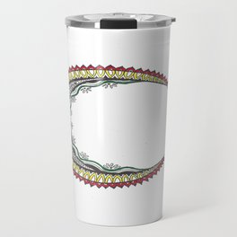 Rastafari Mandala Moon Travel Mug