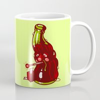 drink Mugs featuring Cold Drink by Artistic Dyslexia