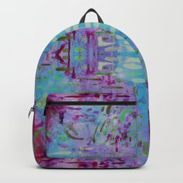 Purple Watercolor Tapestry Backpack